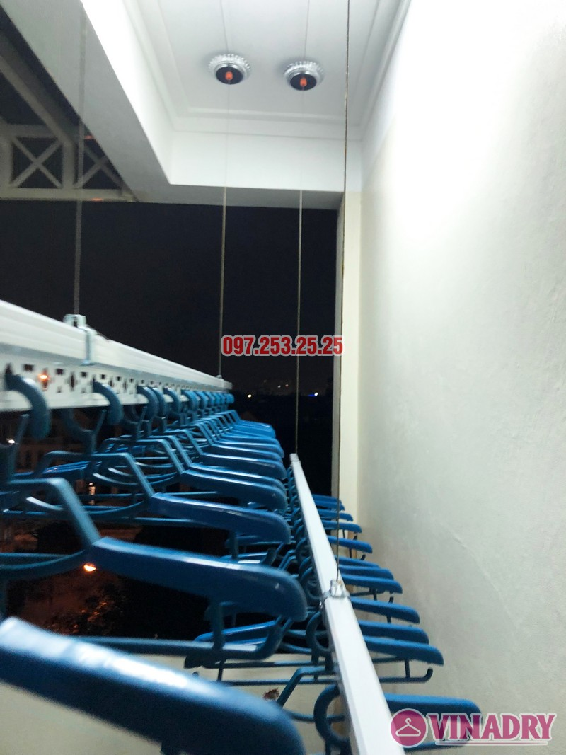 Lắp giàn phơi thông minh cao cấp tại nhà anh Tiến, ngõ 11 Việt Hưng, Long Biên - 03