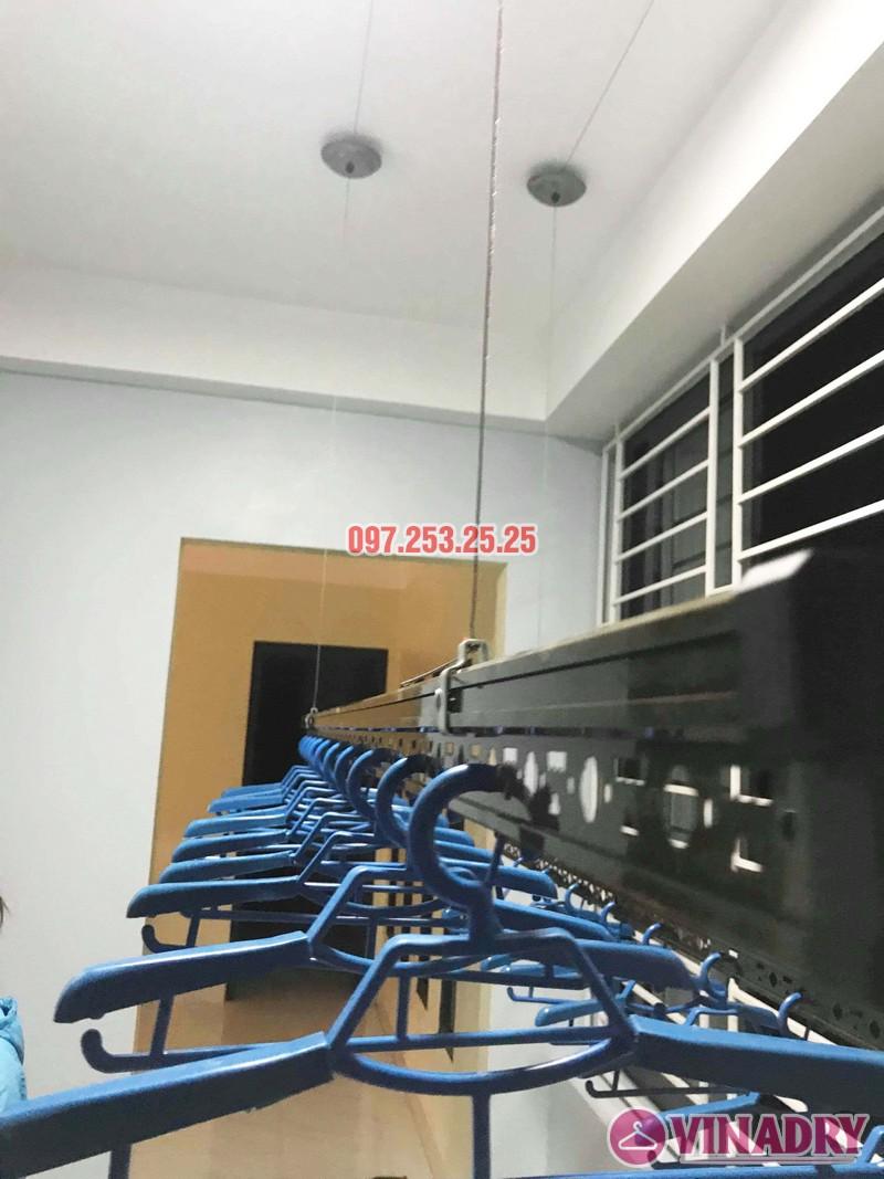 Lắp giàn phơi cao cấp Vinadry, mẫu mới 2019 nhà chị Hạ, Gia Lâm, Hà Nội - 05