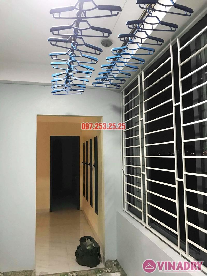 Lắp giàn phơi cao cấp Vinadry, mẫu mới 2019 nhà chị Hạ, Gia Lâm, Hà Nội - 07