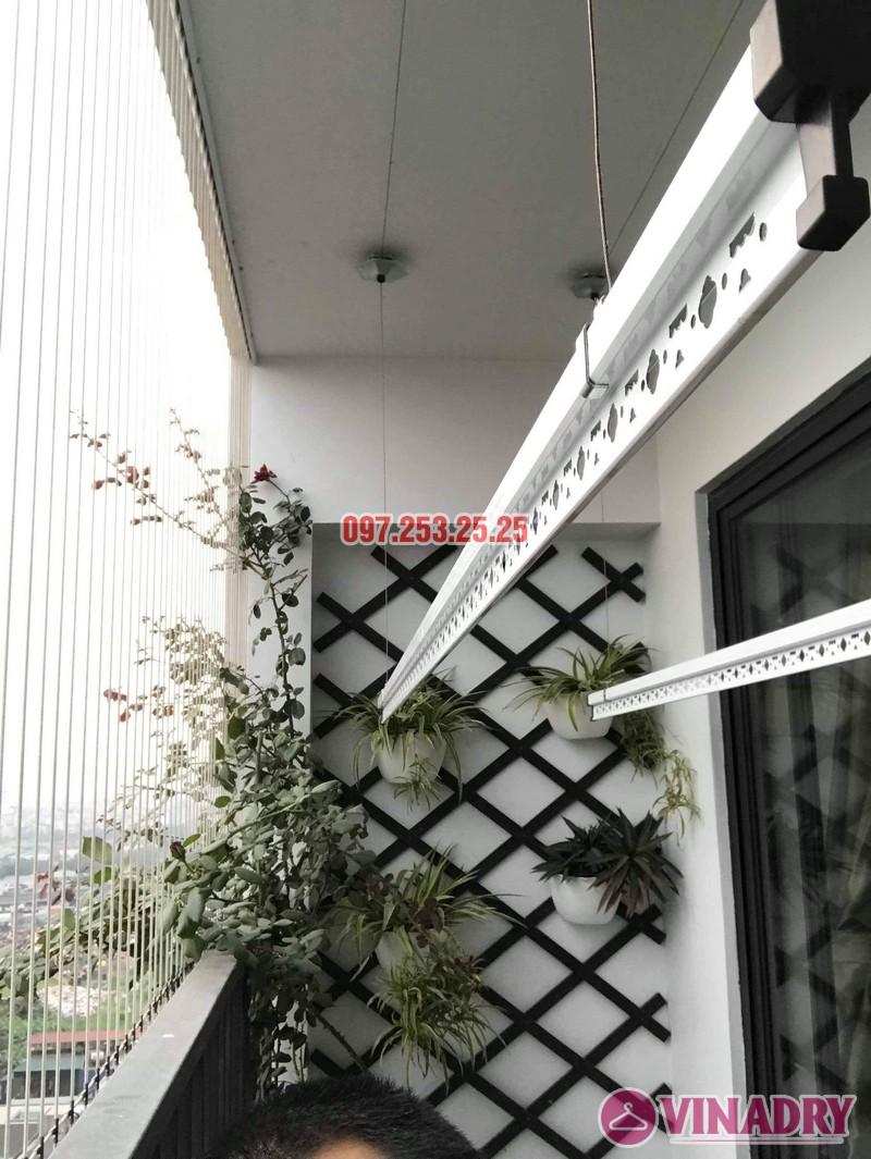 Lắp giàn phơi giá rẻ tại chung cư Five Star Kim Giang nhà anh Tùng - 01