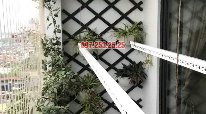 Lắp giàn phơi giá rẻ tại chung cư Five Star Kim Giang nhà anh Tùng - 02