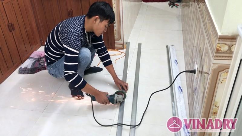 Lắp giàn phơi Hòa Phát mẫu mới 2019 nhà chị Hà, Ninh Hiệp, Gia Lâm Hà Nội- 02
