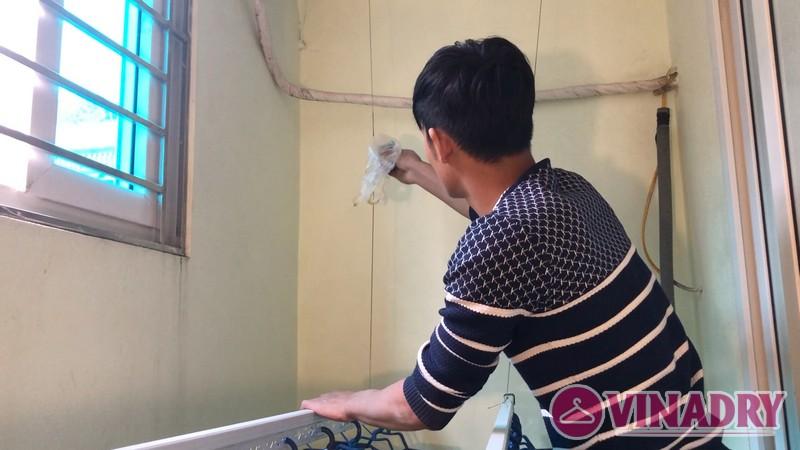 Lắp giàn phơi Hòa Phát mẫu mới 2019 nhà chị Hà, Ninh Hiệp, Gia Lâm Hà Nội- 07