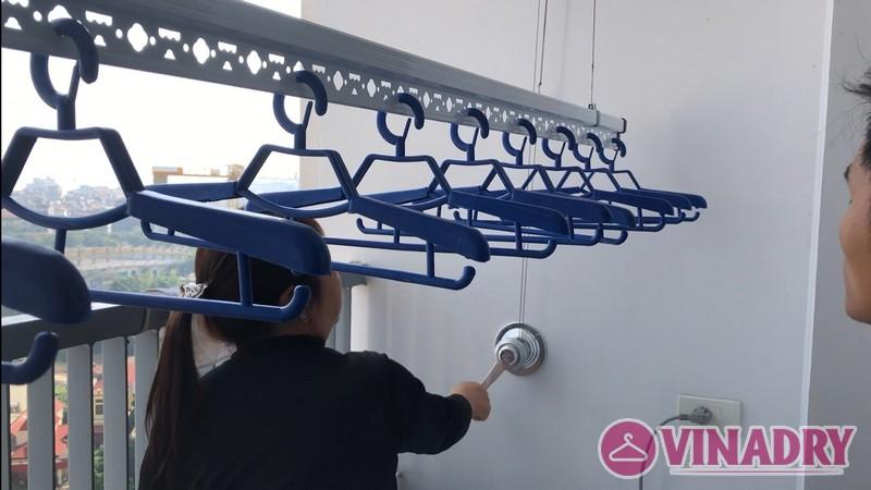 Lắp giàn phơi Hòa Phát Star ks990 tại nhà chị Dinh, chung cư Ngoại Giao Đoàn - 08