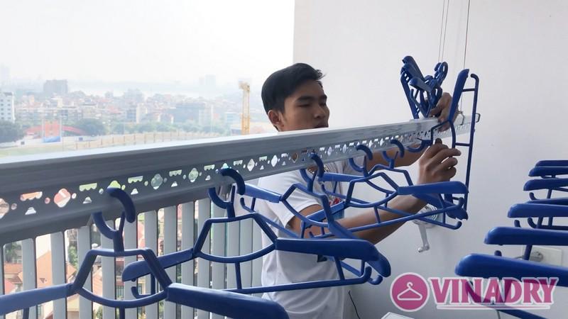 Lắp giàn phơi Hòa Phát Star ks990 tại nhà chị Dinh, chung cư Ngoại Giao Đoàn - 07