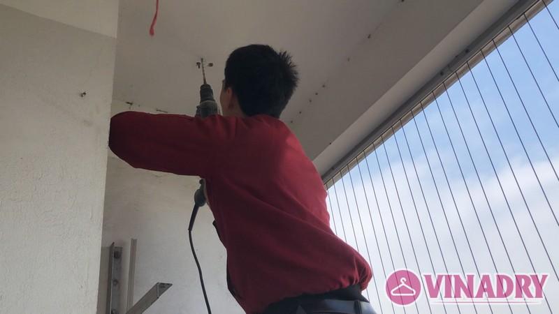 Hình ảnh giàn phơi thông minh KS950 lắp tại chung cư 165 Thái Hà nhà anh Tân - 02