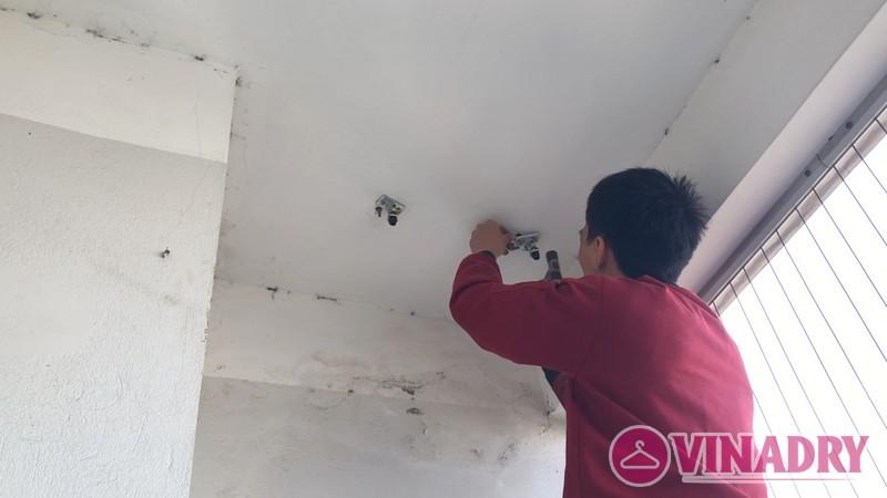 Hình ảnh giàn phơi thông minh KS950 lắp tại chung cư 165 Thái Hà nhà anh Tân - 03