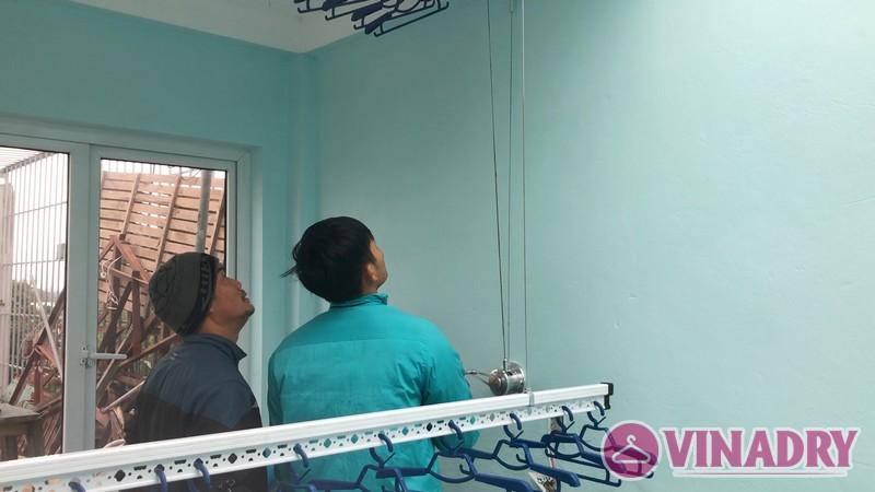 Lắp giàn phơi thông minh Thanh Trì nhà anh Mạnh, ngõ 168/2 Phan Trọng Tuệ - 09