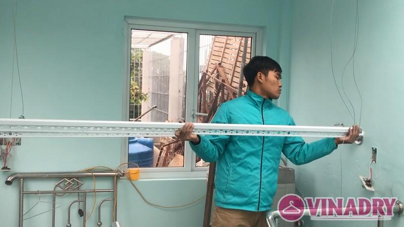Lắp giàn phơi thông minh Thanh Trì nhà anh Mạnh, ngõ 168/2 Phan Trọng Tuệ - 04