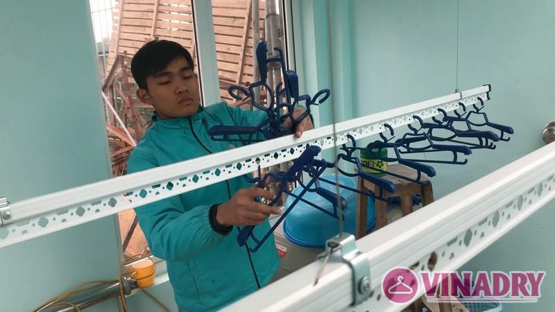 Lắp giàn phơi thông minh Thanh Trì nhà anh Mạnh, ngõ 168/2 Phan Trọng Tuệ - 05