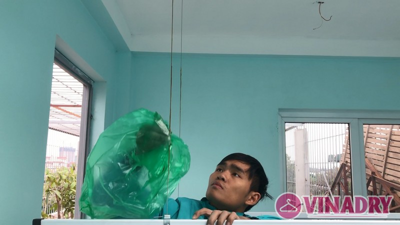 Lắp giàn phơi thông minh Thanh Trì nhà anh Mạnh, ngõ 168/2 Phan Trọng Tuệ - 06
