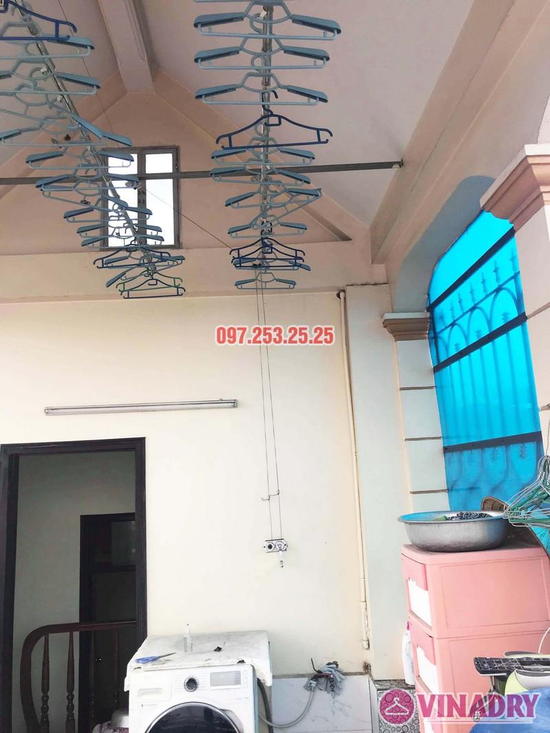 Sửa giàn phơi giá rẻ tại Hà Nội nhà chị Đan, ngách 49/28 Đức Giang, Long Biên - 01