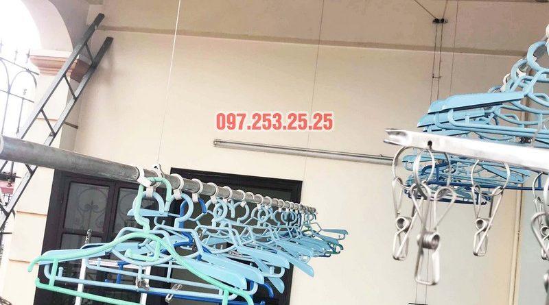 Sửa giàn phơi giá rẻ tại Hà Nội nhà chị Đan, ngách 49/28 Đức Giang, Long Biên - 06