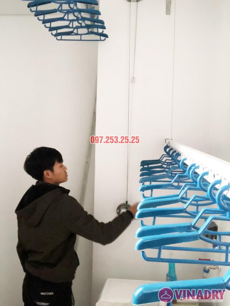 Bộ giàn phơi Vinadry GP901 được lắp đặt thực tế tại nhà anh Tiến, chung cư số 3 Lương Yên, Hai Bà Trưng, Hà Nội