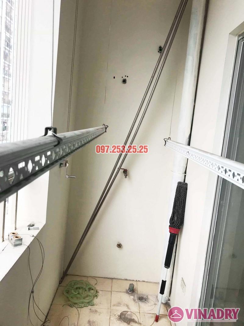 Thay củ quay, dây cáp giàn phơi thông minh giá rẻ tại nhà chị Thoa, chung cư 62 Trần Bình, Cầu giấy