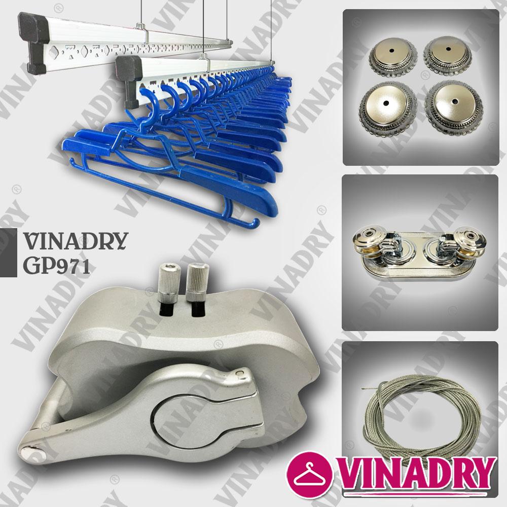 Mẫu giàn phơi chống rối dây Vinadry GP971