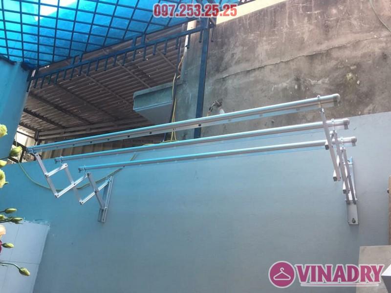 Mẫu giàn phơi gắn tường giá rẻ lắp đặt thực tế tại Hà Nội
