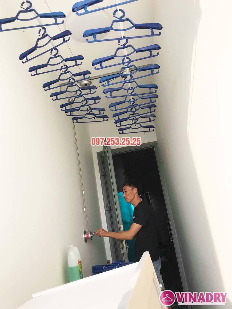 Bộ giàn phơi thông minh hp701 lắp đặt thực tế tại chung cư
