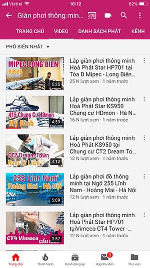 Vinadry trên Youtube