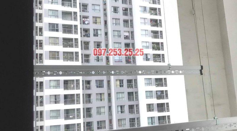 Thay mới giàn phơi thông minh cho nhà chị Nhung, tòa T7, Times City - 02