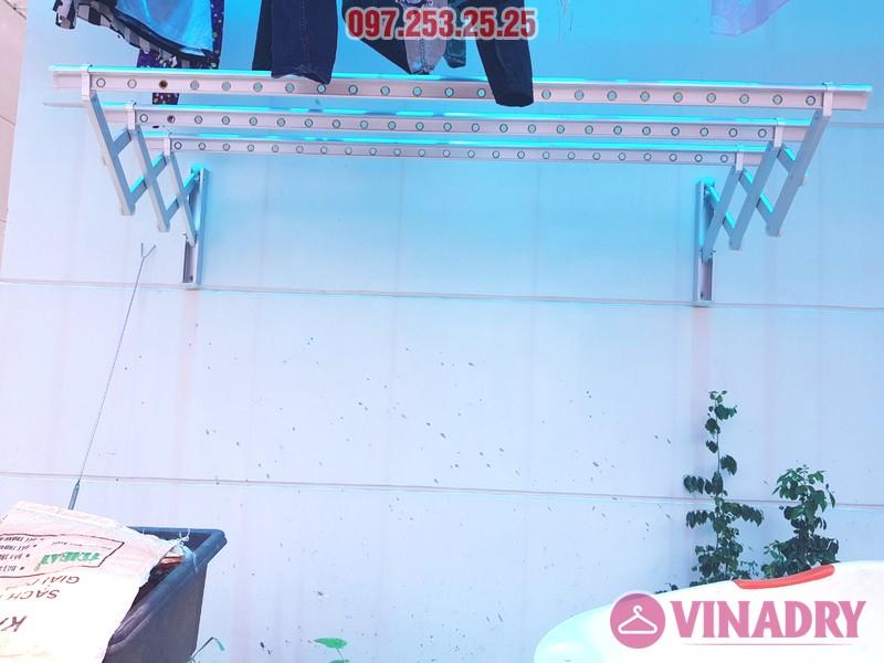 Giàn phơi thông minh gắn tường Vinadry KN198 lắp tại Dĩ An, Bình Dương nhà chị Hạnh - 01