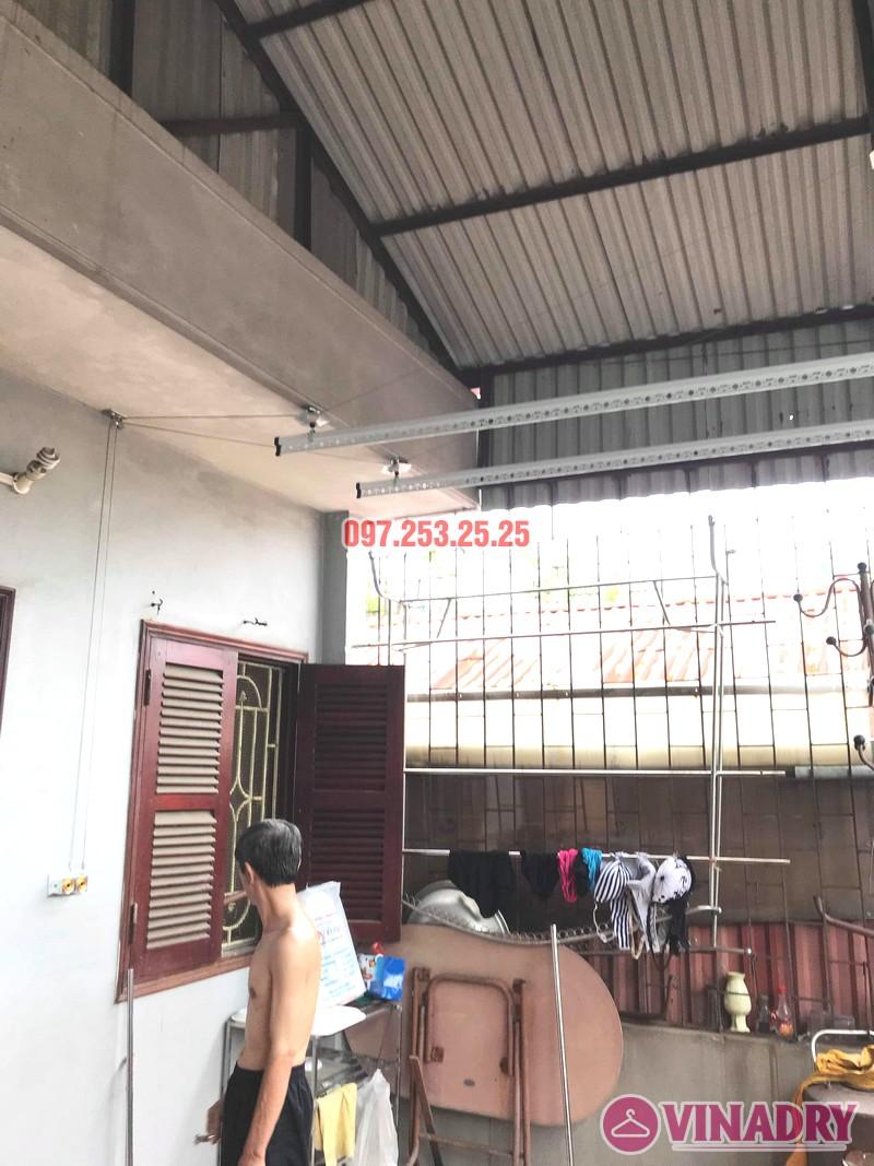 Diện mạo giàn phơi giá rẻ HP99B lắp tại trần mái tôn nhà chú Bản - 02