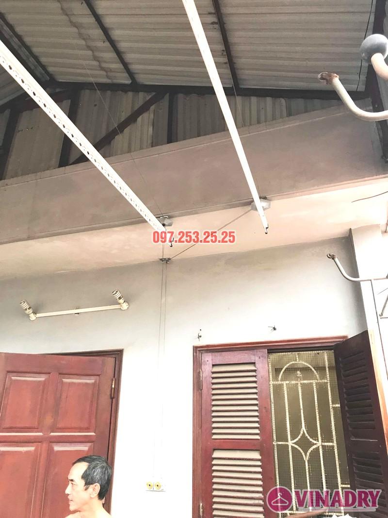 Diện mạo giàn phơi giá rẻ HP99B lắp tại trần mái tôn nhà chú Bản - 03