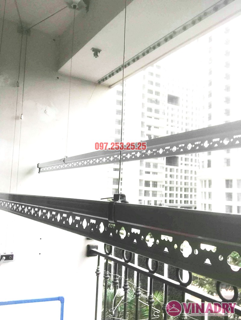 Lắp giàn phơi thông minh giá rẻ HP368 tại Times City nhà chị Lê - 04