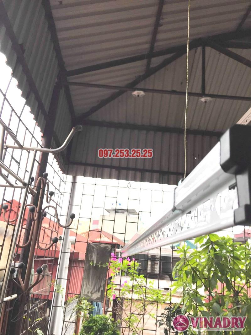 Diện mạo giàn phơi giá rẻ HP99B lắp tại trần mái tôn nhà chú Bản - 07