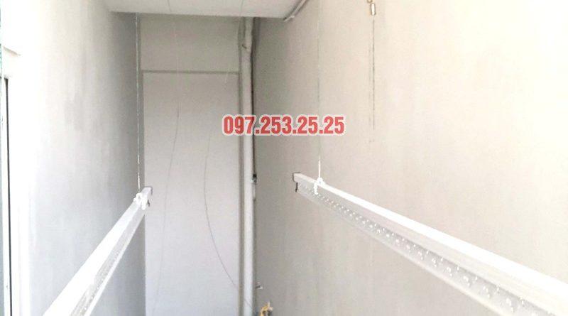 Lắp giàn phơi giá rẻ Hòa Phát Star HP702 tại chung cư V1 Victoria Văn Phú, Hà Đông - 02