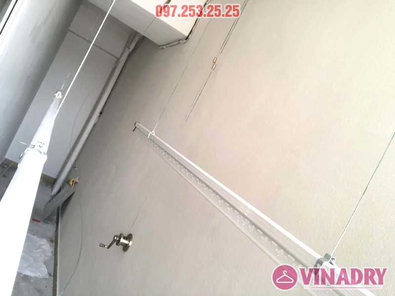Lắp giàn phơi giá rẻ Hòa Phát Star HP702 tại chung cư V1 Victoria Văn Phú, Hà Đông - 08