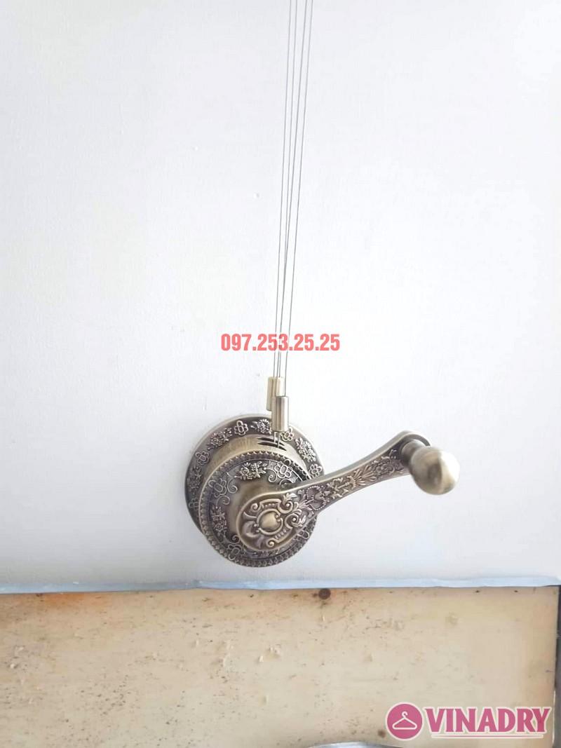 Giàn phơi Vinadry GP941 sang trọng, bền bỉ lắp tại chung cư 87 Lĩnh Nam nhà anh Tặng