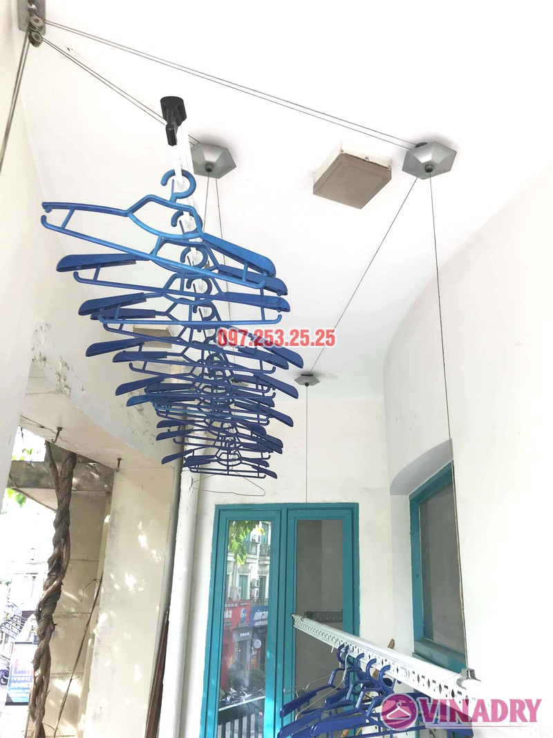 Thay dây cáp giàn phơi giá rẻ nhà chị Hồng, tòa nhà C'land 81 Lê Đức Thọ, Nam Từ Liêm, Hà Nội - 02