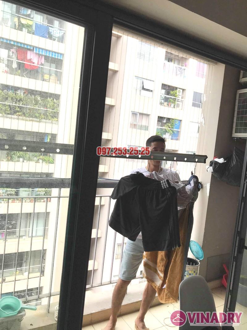 Sửa giàn phơi thông minh Đống Đa nhà anh Hữu, chung cư 102 Trường Trinh