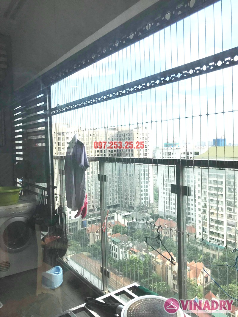 Ảnh sửa giàn phơi nhà chị Quế, tòa A, chung cư imperia Garden, Thanh Xuân, Hà Nội - 07