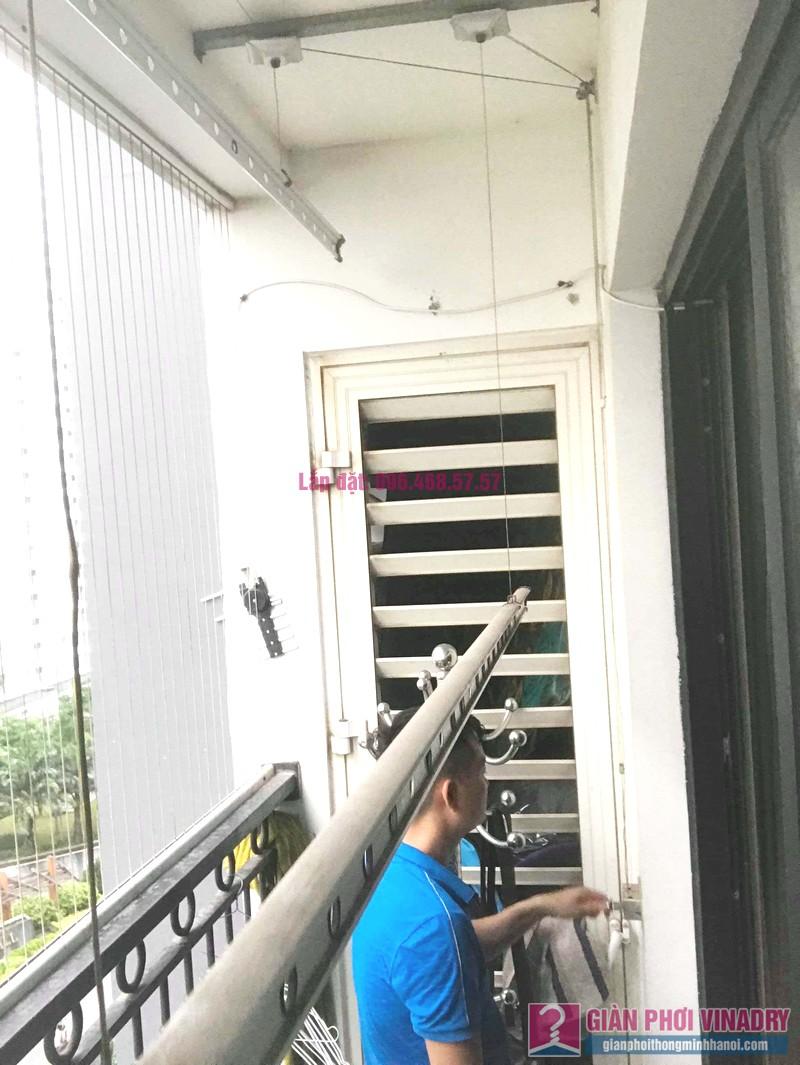 Sửa giàn phơi Times City: thay dây cáp giá rẻ nhà anh Hùng, tòa T9 - 02
