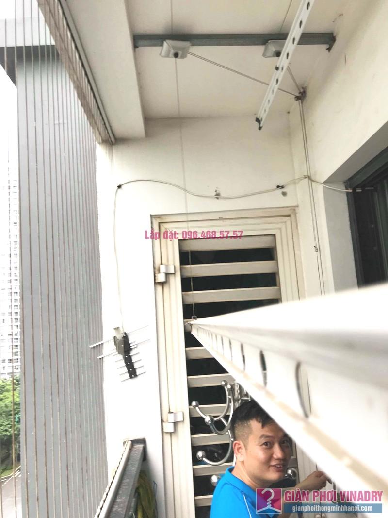 Sửa giàn phơi Times City: thay dây cáp giá rẻ nhà anh Hùng, tòa T9 - 04