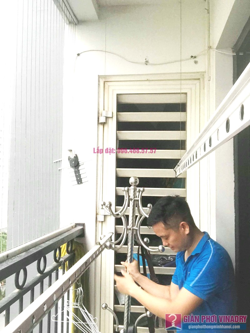 Sửa giàn phơi Times City: thay dây cáp giá rẻ nhà anh Hùng, tòa T9 - 06