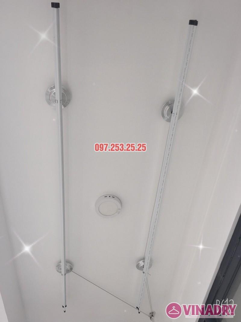 Lắp giàn phơi và lưới an toàn ban công tại Cầu giấy, Hà Nội nhà cô Hà, chung cư paragon - 02