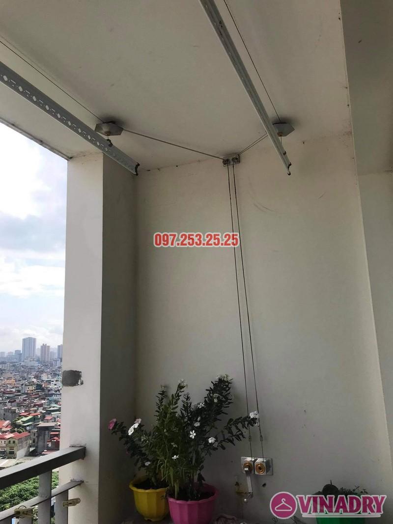 Sửa giàn phơi Hai Bà Trưng tại nhà anh Hà, chung cư Trương Định complex: thay bộ tời và dây cáp - 01