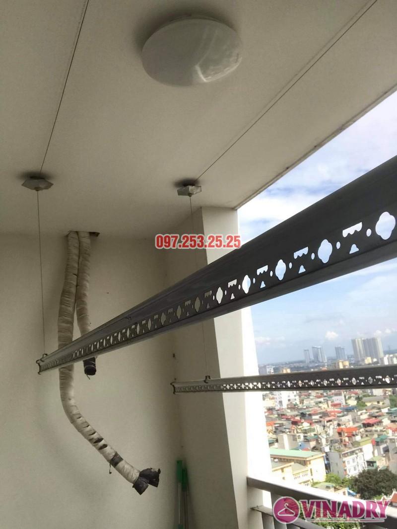 Sửa giàn phơi Hai Bà Trưng tại nhà anh Hà, chung cư Trương Định complex: thay bộ tời và dây cáp - 03