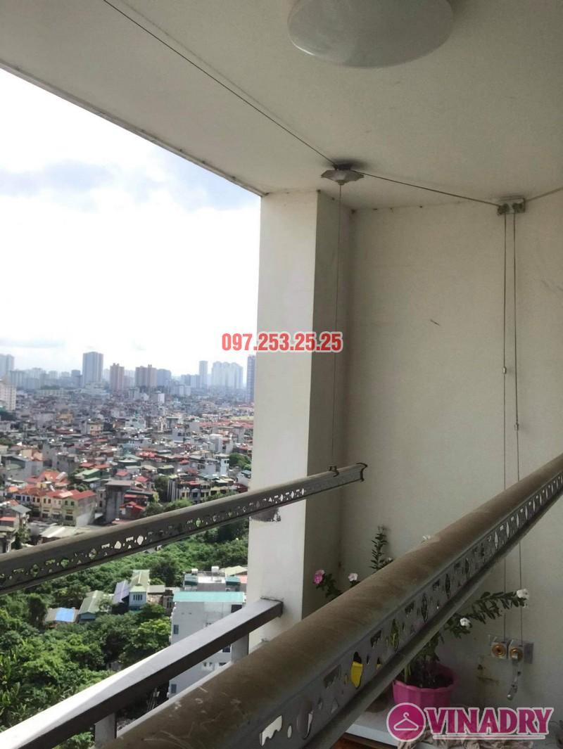 Sửa giàn phơi Hai Bà Trưng tại nhà anh Hà, chung cư Trương Định complex: thay bộ tời và dây cáp - 04