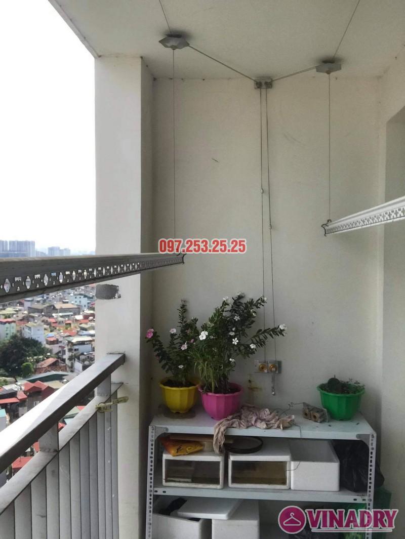 Sửa giàn phơi Hai Bà Trưng tại nhà anh Hà, chung cư Trương Định complex: thay bộ tời và dây cáp - 05