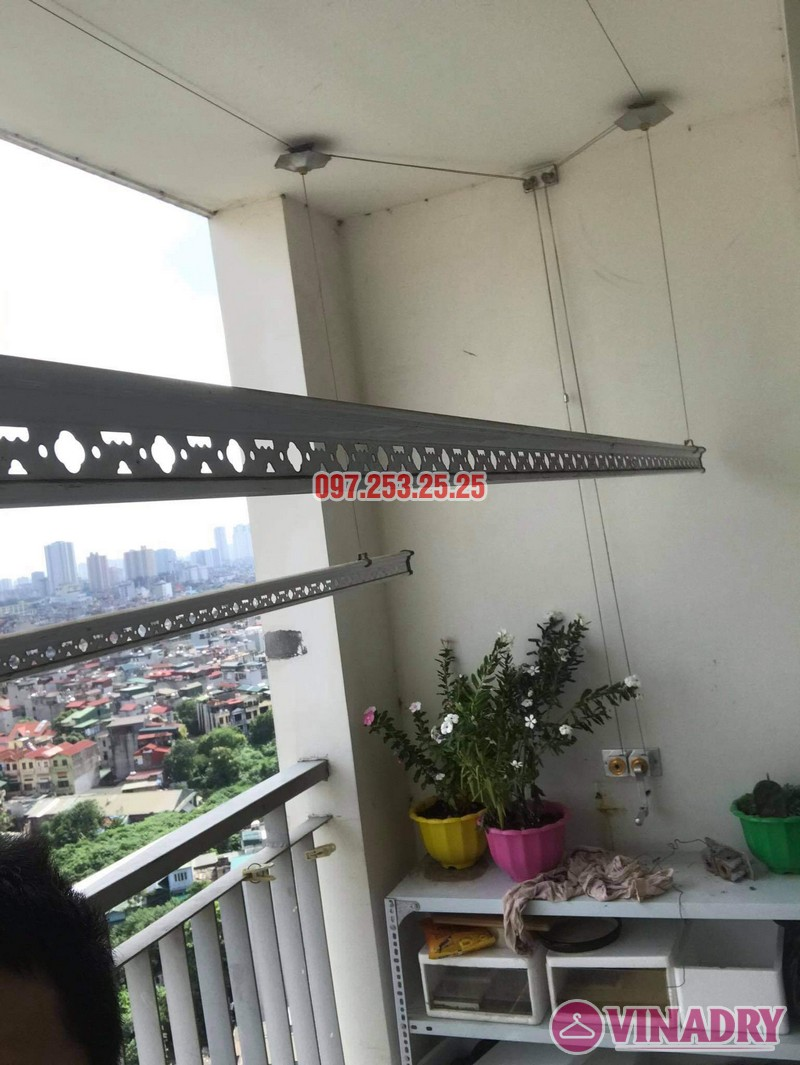 Sửa giàn phơi Hai Bà Trưng tại nhà anh Hà, chung cư Trương Định complex: thay bộ tời và dây cáp - 06