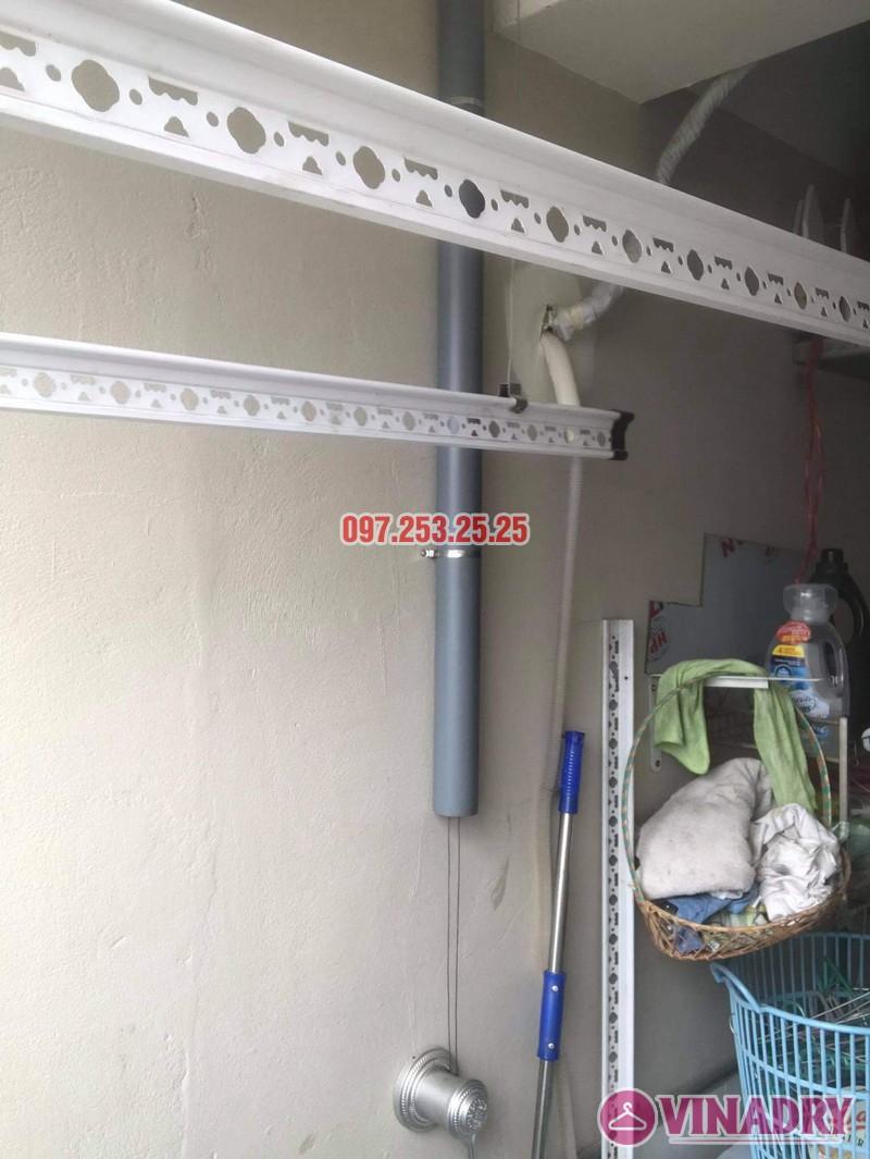 Sửa giàn phơi Long Biên: Thay dây giàn phơi thông minh tại chung cư CT1 Thạch Bàn nhà chị Lệ - 02