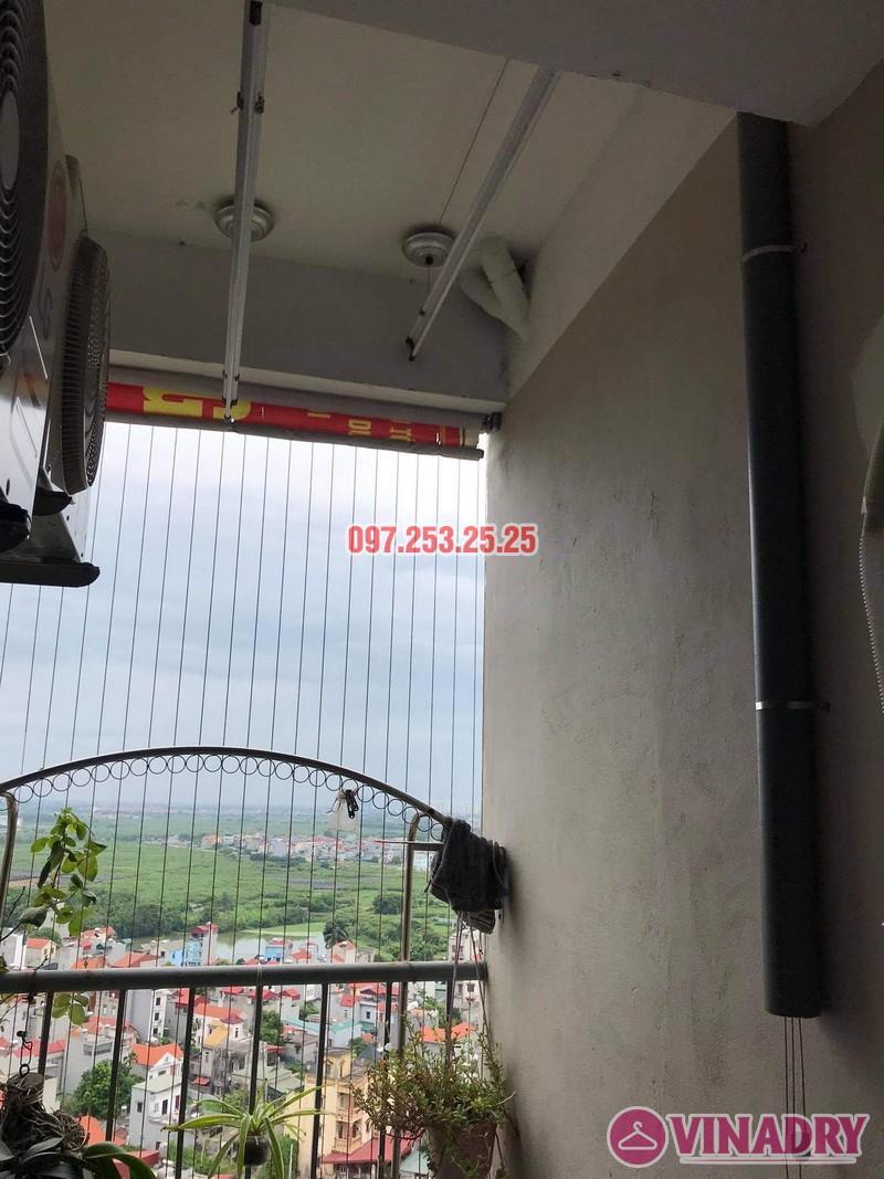 Sửa giàn phơi Long Biên: Thay dây giàn phơi thông minh tại chung cư CT1 Thạch Bàn nhà chị Lệ - 05