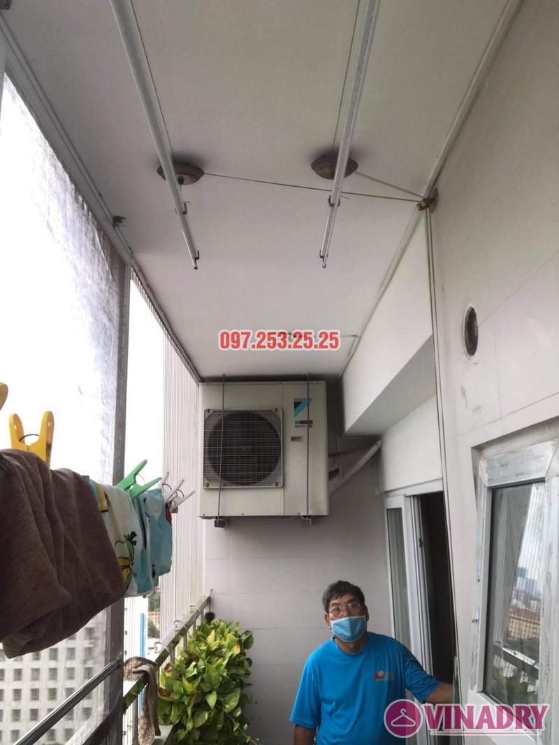 Sửa giàn phơi quận Tây Hồ: thay cáp tại nhà bác Học, chung cư Học viện Quốc Phòng - 01
