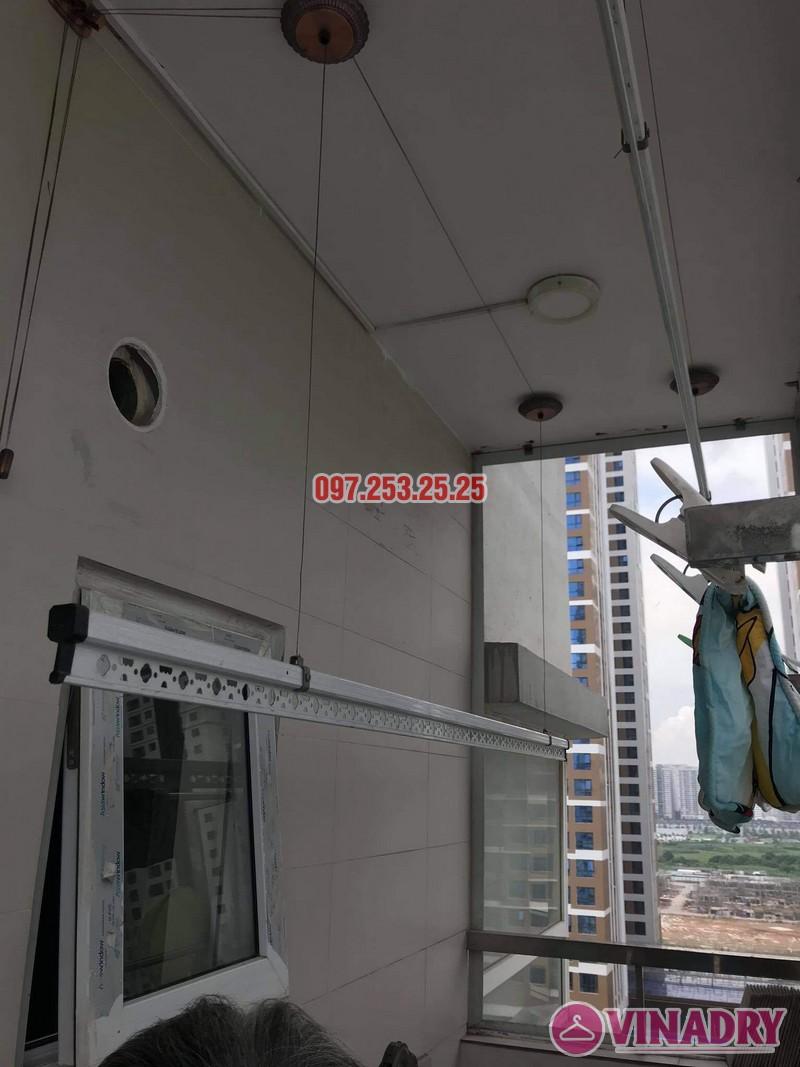 Sửa giàn phơi quận Tây Hồ: thay cáp tại nhà bác Học, chung cư Học viện Quốc Phòng - 03