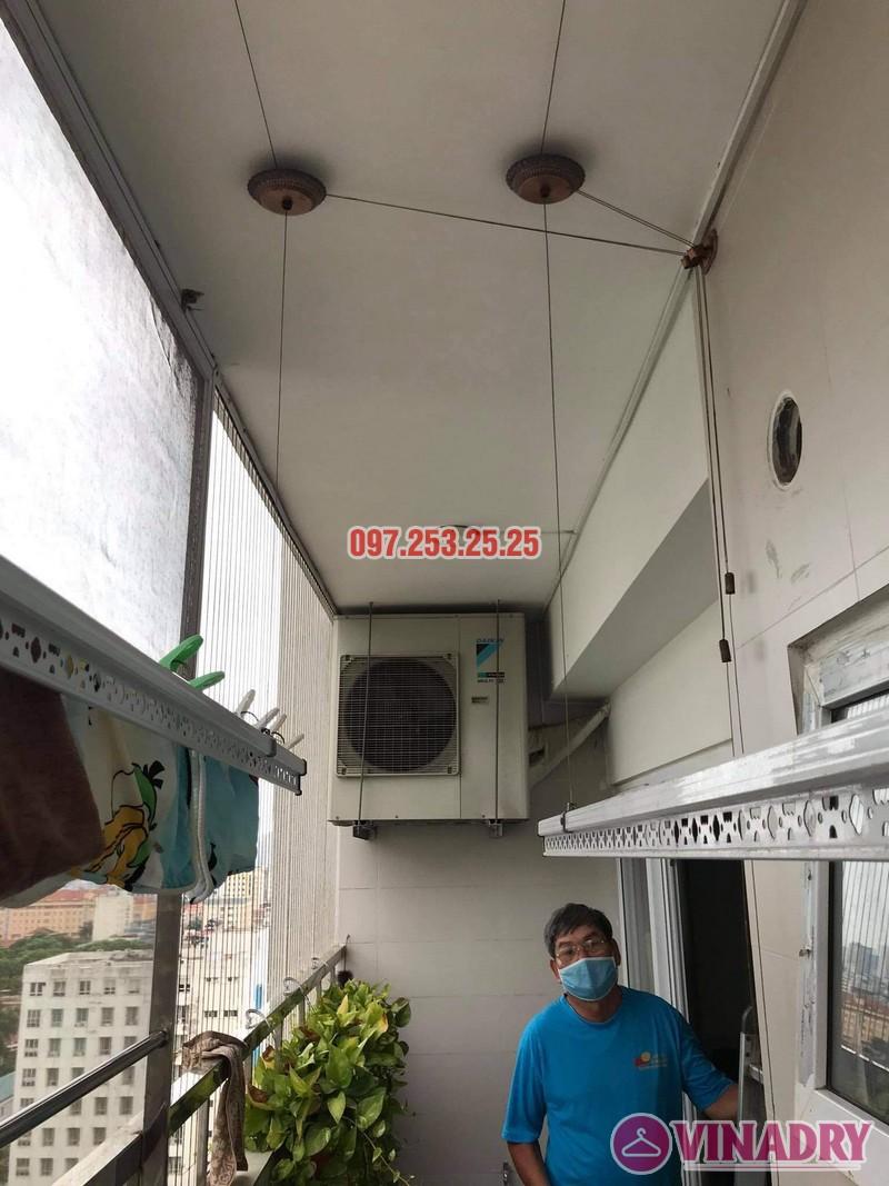 Sửa giàn phơi quận Tây Hồ: thay cáp tại nhà bác Học, chung cư Học viện Quốc Phòng - 07