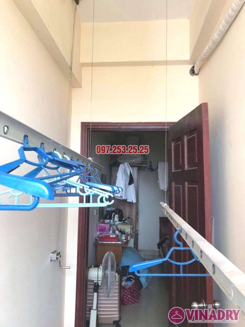 Sửa giàn phơi thông minh Cầu giấy nhà chị Ly, chung cư Home City - 01
